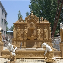 Custom Marble Water Fountain Design with Human Sculptures