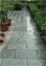 Green Slate Exterior Flooring Tiles, Terrace Floors Paving Tiles