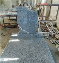 Black New G654 Granite Headstone China Factory