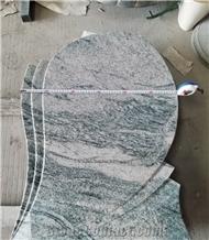 China Juparana Granite Headstone Pattern
