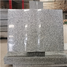 Open Book Grey Granite Memorials Headstone