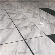 Polished Greece Volakas White Marble Tiles China Factory