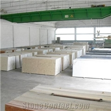 Agglomerated Resin-Marble and Cement-Marble Slabs