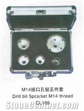 M14 Thread Drill Bit, 5pcs/Set, Cl169