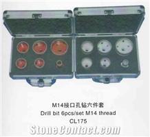 M14 Thread Drill Bit, 6pcs/Set, Cl175