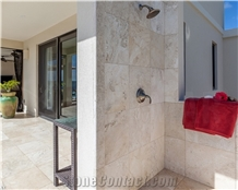 Picasso Ivory Travertine Honed Tiles
