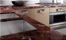 Rosso Levanto Marble Kitchen Countertop