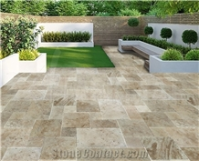 Scott Rustic Pattern Set Travertine Tiles