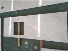 Bianco Carrara White Marble Kitchen Countertops
