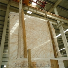 Golden Spider Marble Tiles and Yellow Marble Slabs