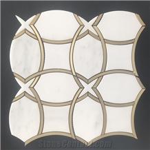 Water-Jet Mosaic Tiles Art Marble Mosaic Patterns