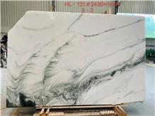 White Book-Match Marble Black Vein New Tile Slab