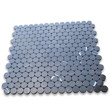 Black Marble 3 4 Inch Penny Round Mosaic Tiles