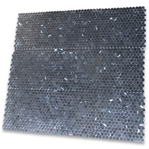Marquina Black 3 4 Inch Penny Round Mosaic Tiles