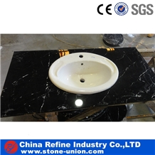 Cheap Black Marquina Marble Counter Vanity Tops