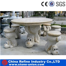 China G682 Granite Outdoor Stone Tables & Benches