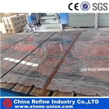 Chinese Juparana Red Granite Tiles and Slabs