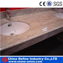 Polished Prefab Granite Bathroom Countertops