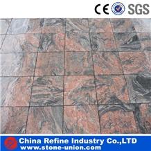 Red Multi Color Indian Juparana Granite Tiles