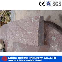 Red Porphyry Kerb Stone,Cheap Chinese Road Stone