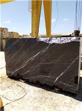 Nero Marquina Marble, Morocco Black Marble Blocks