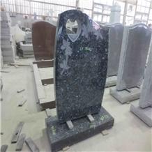 Black/Grey/Red Granite Headstone Grave Tombstone