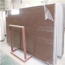 China Brown Quartz Slab for Kitchen Countertops