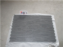 Black Lava Stone Mosaic Tile Wall Backsplash