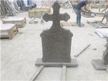 G361 Granite Western Style Cross Tombstones