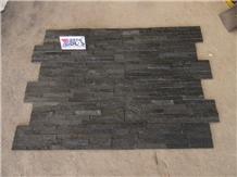 Natural Black Quartzite Cultured Stone Veneer Wall