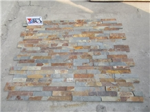 Natural Rusty Cultured Stone Veneer Feature Wall