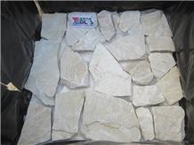 Natural Yellow White Quartzite Flagstone Random Paver
