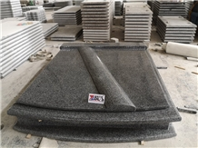 New G654 Granite Double Western Style Tombstone