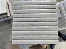Polished Carrara White Marble Bathroom Mosaic