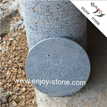 Round Honed Cooking Stone Lavastone Grill