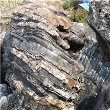 Natural Grey River Rock Large Landscape Boulder