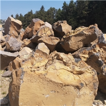 Yellow Lava Rock Boulders for Landscaping