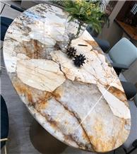 Flexible Stone Marble Veneer Sheets Table Top