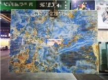 Natural Blue Onyx Polished Floor& Wall Tiles Slabs