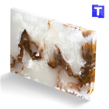Quality Artificial Crystal Brown Onyx Wall Panel