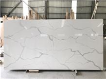 Artificial White Calacatte Quartz Slabs Silestone