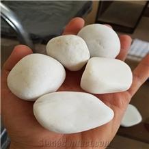 Marble Pebble Stone, White Pebble Stone or River Stone