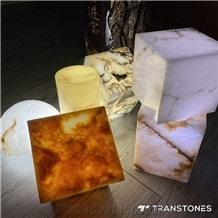 Artificial Stone Translucent Backlit Onyx Lighting Box