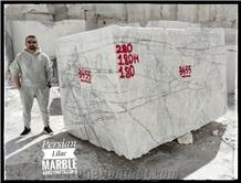 Persian Lilac Marble Blocks, Iran White Marble