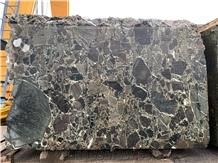 Verde Orientale Marble Block, Breccia Green Marble Block