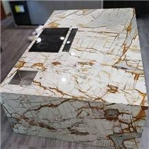 Polished Stone Mapa Mundi Quartzite Slabs