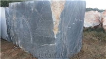 Emirate Grey Marble Blocks, King Blue Fantasy Grey Marble Blocks