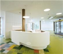 5 Star Curved Acrylic Resin Modern Reception Desk