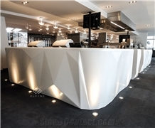 High End Artificial Marble Led Light Night Club Bar Counter