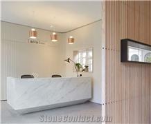 High End Quartz Stone Curved Reception Desk